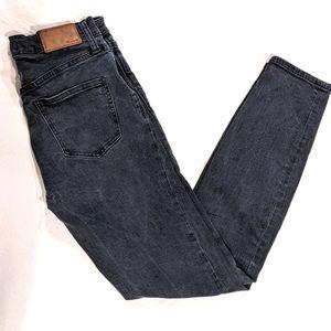 Madewell Black Stretch High Rise Skinny Jeans